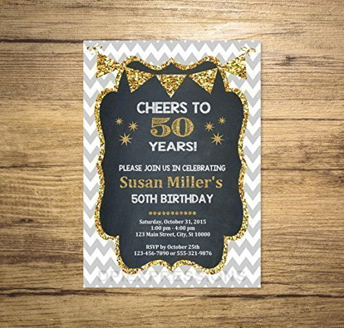 50th birthday invitations amazon com