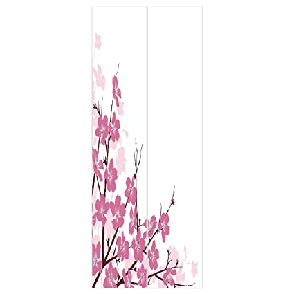 3d Door Wall Mural Wallpaper Stickers Asian DecorJapanese Cherry Blossoms Sakura With Branches