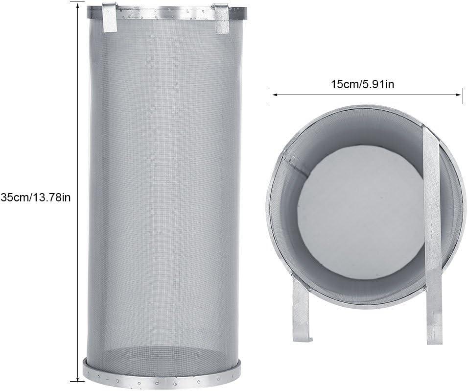 Filtro Birra,Filtro Birra Accessorio Inserto Filtro,Filtro Birra Birra In Acciaio Inox 300 Micron Con Ganci Resistente Alla Corrosione E Facile Da Pulire 10 * 25.5cm