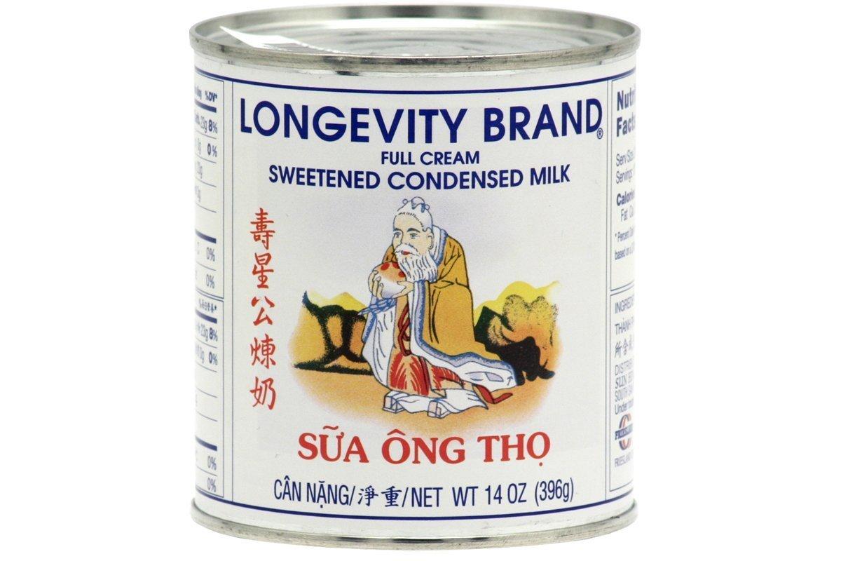 Longevity Sweetened Condensed Milk 14 Oz. (Pack of 6)
