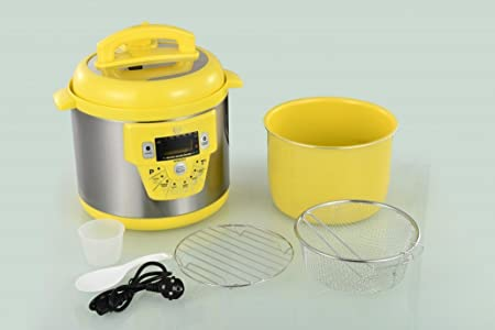 Cocina programable GM modelo E freidora y Voz – 6 litros cubeta ceramica Amarilla: Amazon.es: Hogar