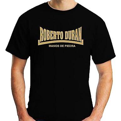 Docrim Mens Black Roberto Duran Manos De Piedra T-Shirt