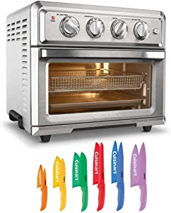 Cuisinart TOA-60 Convection Toaster Air Fryer and 12 Piece Knife Set Bundle (2 Items)