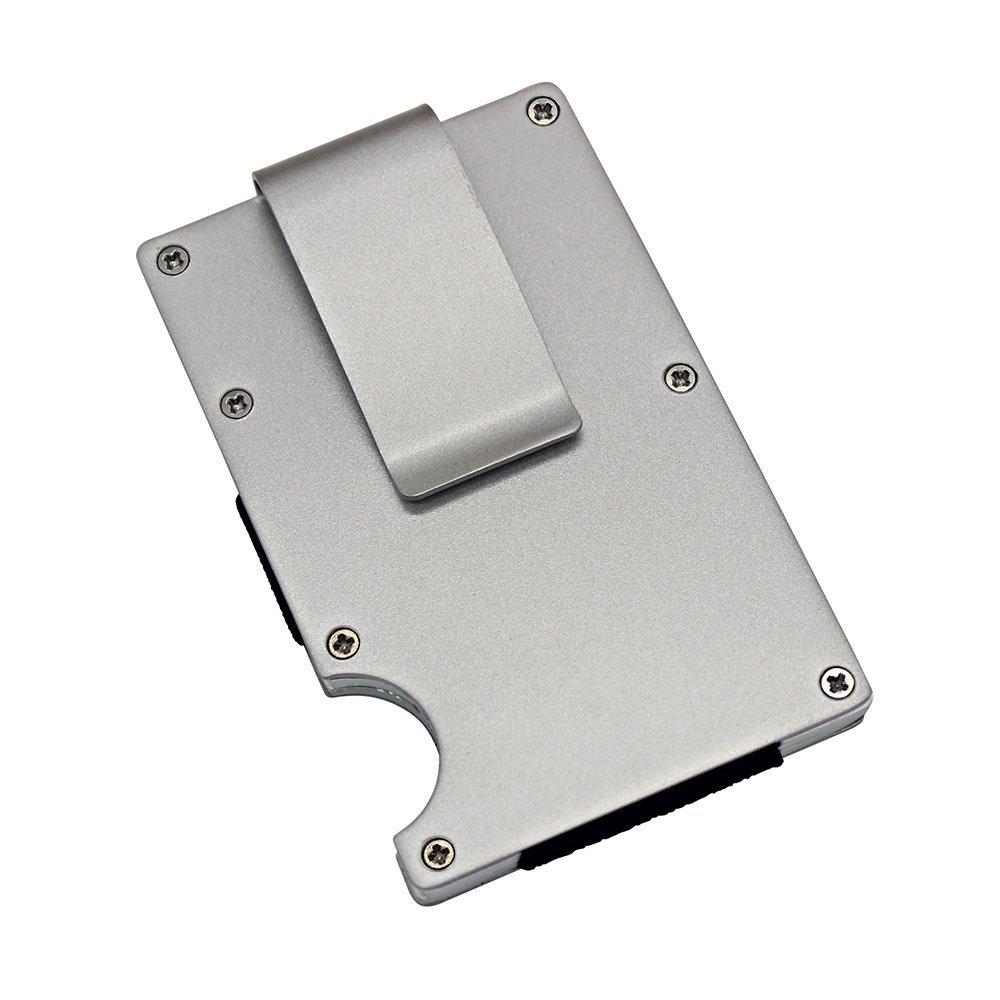 URAQT Porte-Carte de Crédit/Visite/Porte Monnaie/RFID Lutte Contre Criminel de Scanning - Cool Etui de Carte de Visite Slim Métal- Porte-Carte de vsite OL-B2301-2