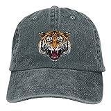 Buecoutes Sketch Tiger Head Vintage Cowboy Baseball Caps Trucker Hats Asphalt