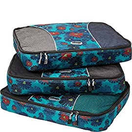 "eBags Large Classic Packing Cubes for Travel - 3pc Set 13 INCLUDES 3 Large PACKING CUBES: Dimensions are 17.5"" x 12.75"" x 3.25""; great for packing sweaters, jeans, dress pants, etc. SUPERIOR QUALITY: Highest construction standards utilized, making it a customer-favorite, packing cube of choice. Includes premium self-healing zippers with corded pulls for a lifetime of opening and closing. DURABLE & CONVENIENT: Interior seams fully finished for durability and soft mesh tops won't damage delicate fabrics or dress clothes. Mesh allows for easy identification - no more digging around!"