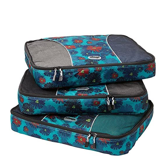 """eBags Large Classic Packing Cubes for Travel - 3pc Set 1 INCLUDES 3 Large PACKING CUBES: Dimensions are 17.5"""" x 12.75"""" x 3.25""""; great for packing sweaters, jeans, dress pants, etc. SUPERIOR QUALITY: Highest construction standards utilized, making it a customer-favorite, packing cube of choice. Includes premium self-healing zippers with corded pulls for a lifetime of opening and closing. DURABLE & CONVENIENT: Interior seams fully finished for durability and soft mesh tops won't damage delicate fabrics or dress clothes. Mesh allows for easy identification - no more digging around!"""