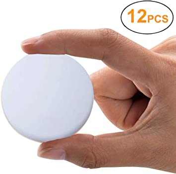 1.57 Inches Door Knob Wall Shield Guard White 12 PCS Door Stopper Wall Protector Silicon Wall Door Stop Pads Round Door Handle Bumper with Self Adhesive