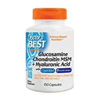 Doctor's Best, (2 Pack) Glucosamine Chondroitin MSM + Hyaluronic Acid, 150 Veggie Caps