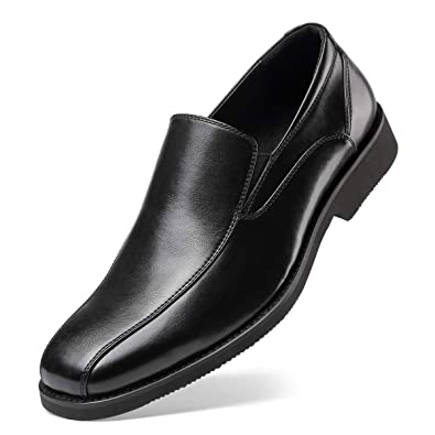 2952f847a48 Men s Dress Shoes- Classic Modern Formal Leader Slip On Loafer Black 7