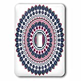 3dRose Sven Herkenrath Mandala - Fantasy Mandala Symbol Meditation Red Blue - Light Switch Covers - single toggle switch (lsp_254319_1)