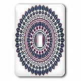 3dRose Sven Herkenrath Mandala - Fantasy Mandala Symbol Meditation Red Blue - Light Switch Covers - single toggle switch (lsp_254319_1)