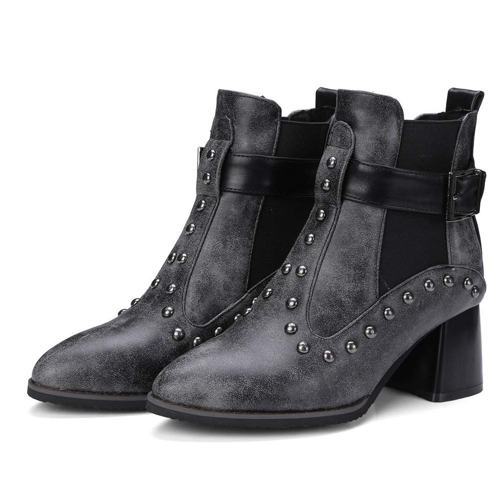 Amazon.com: JEFCY - Botas de tobillo para mujer, puntiagudas ...