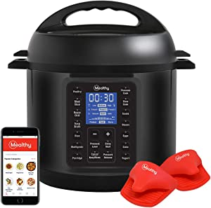 Mealthy Multipot 2.0 9-in-1 Programmable Pressure Cooker 6 Quarts with Auto-seal lid, Hands-free auto pressure release, stainless steel pot, steamer basket, Pressure cook, TRUE slow cook, sauté, rice, yogurt, steam