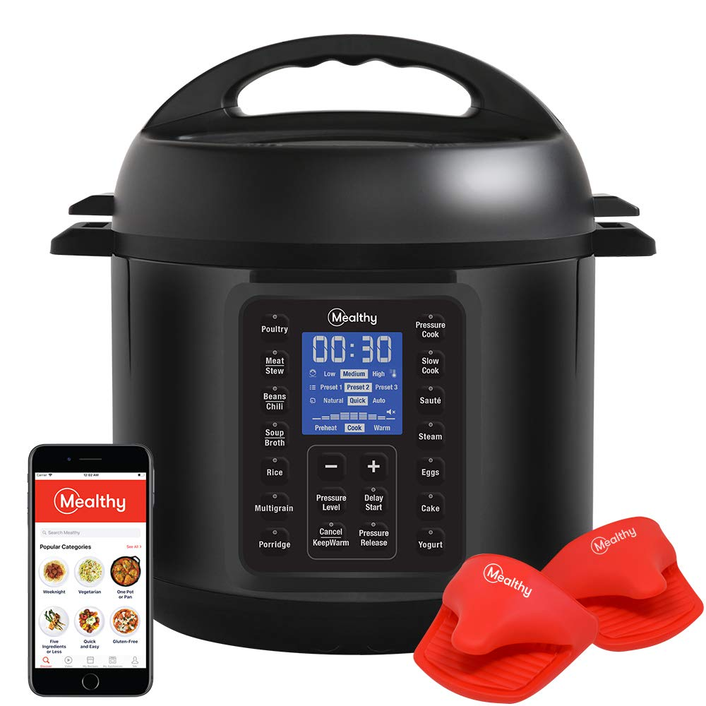 Mealthy Multipot 2.0 9-in-1 Programmable Pressure Cooker 6 Quarts with Auto-seal lid, Hands-free auto pressure release, stainless steel pot