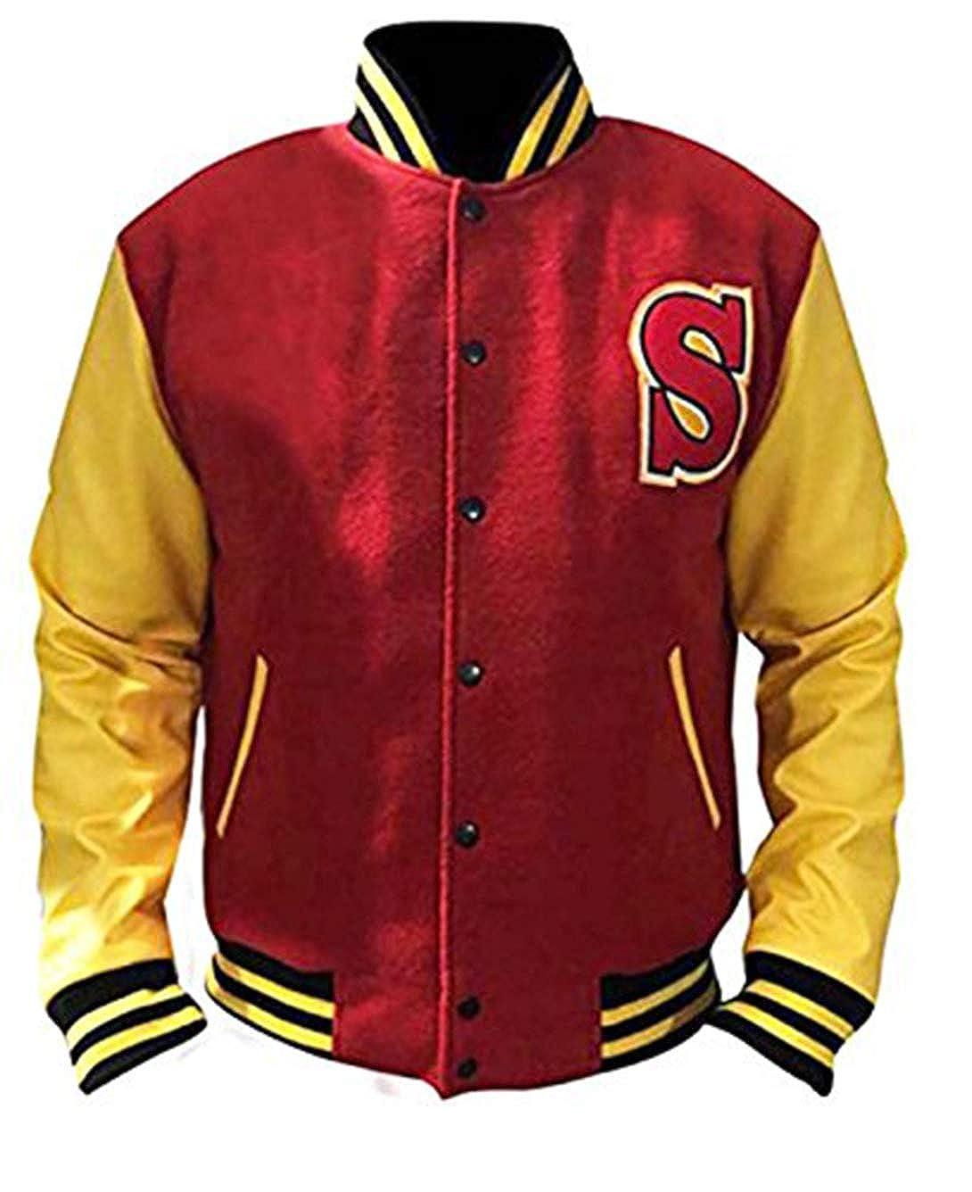 Superman Crows Jacket Smallville Clark Kent Varsity Letterman Bomber Jacket Premium Leather Products PLP--C-V-IM104-BL