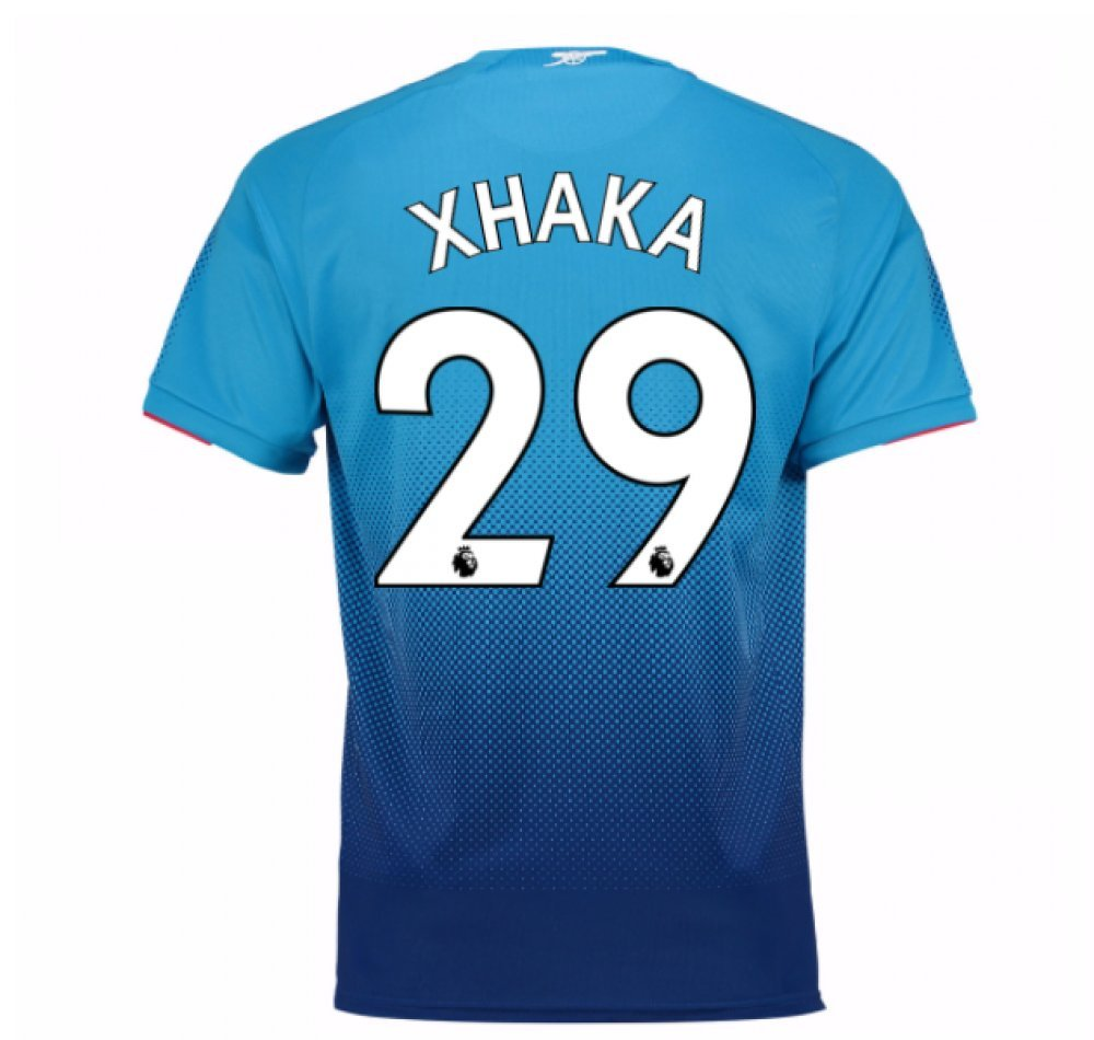 2017-2018 Arsenal Away Football Soccer T-Shirt Trikot (Granit Xhaka 29) - Kids