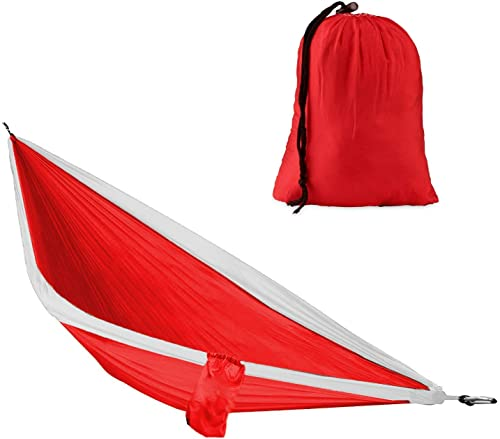 TG Brands – Single Hammock with Hammock Straps Camping and Survival Gear . Travel Hammock, Camping Hammock, Bed in a Bag, Cool Gadgets for Men, Portable Hammock, Camping Gifts, Portable Hammock