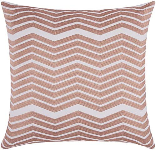 Nourison Mina Victory Thick Chevron Mina Victory Sw515 Rosgd Decorative Pillow, 20 X 20 , Rose Gold