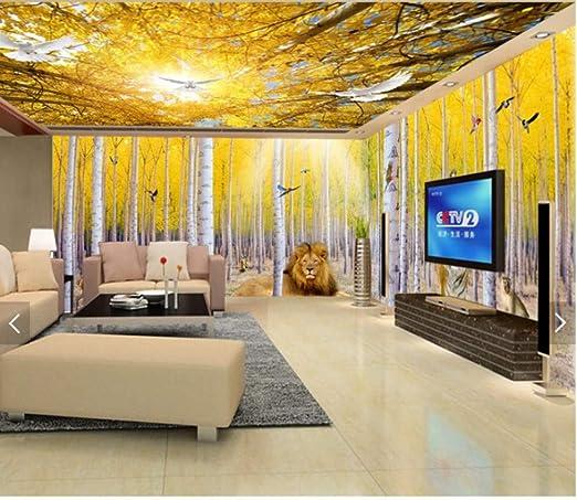 Fototapete Schlafzimmer Tapete Living Decoration-Goldener ...