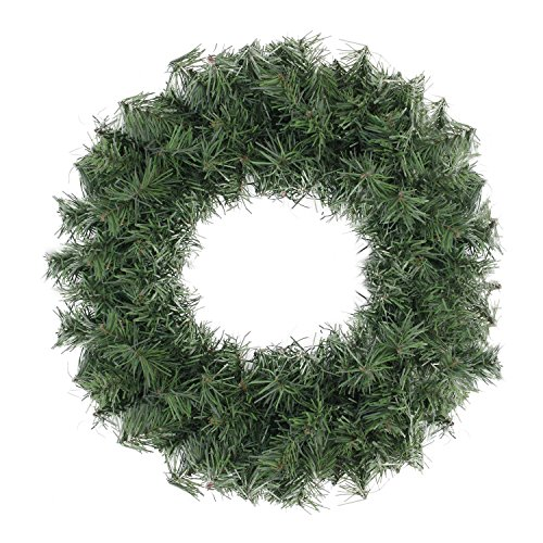 18inch Canadian Pine Artificial Christmas Wreath - Unlit (Large Image)