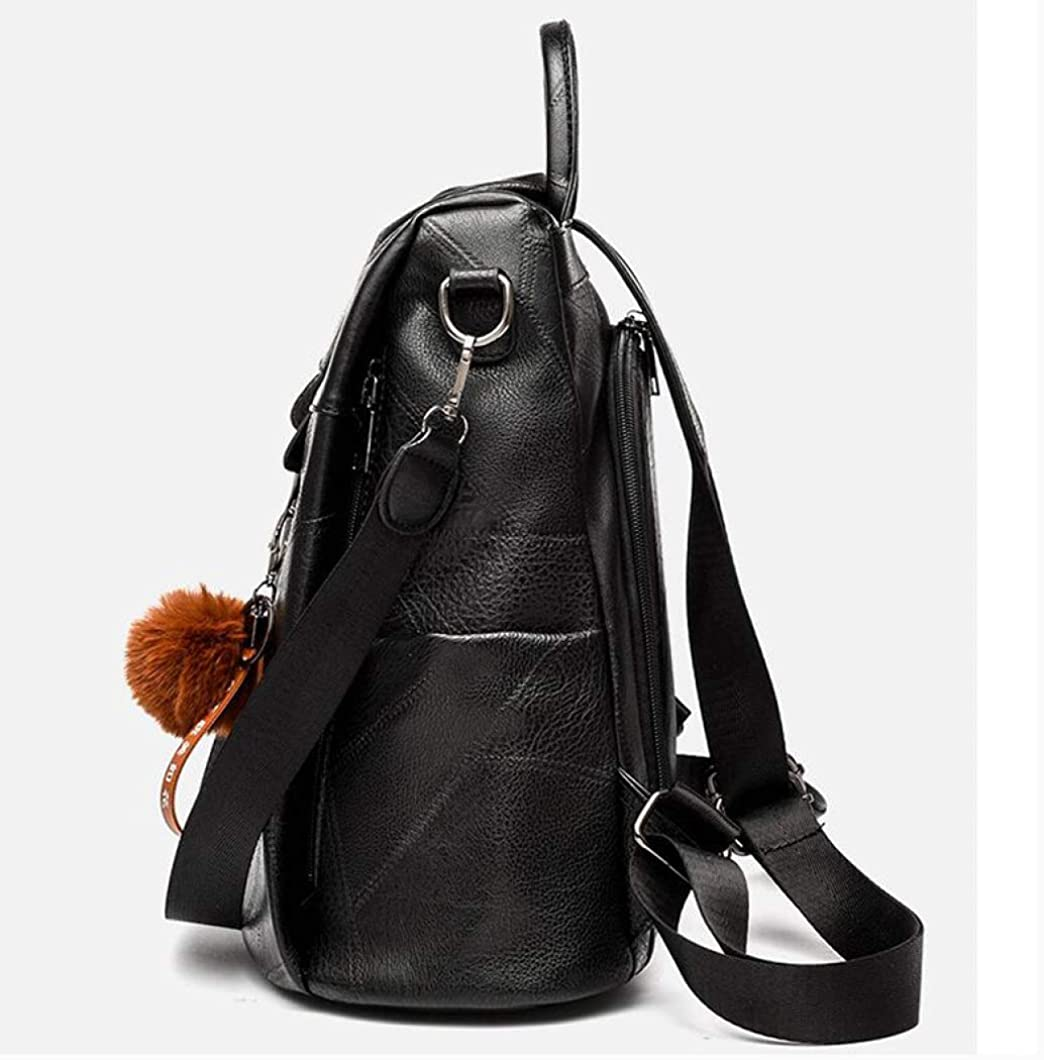 PU Leather Backpack for Women Travel Knapsack Classic Large Capacity Rucksack Fashion Casual School Bag