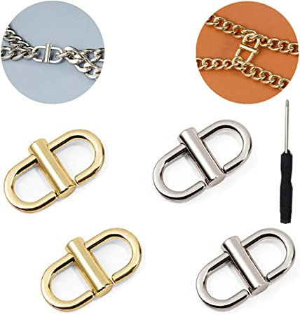 Metal Chain Silver Circle Metal Buckle Accessory Metal Connector Shoe Buckle 2 PCS