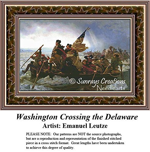 Patriotic Cross Stitch Patterns | Washington Crossing the Delaware (Pattern Only, You Provide the Floss and Fabric)