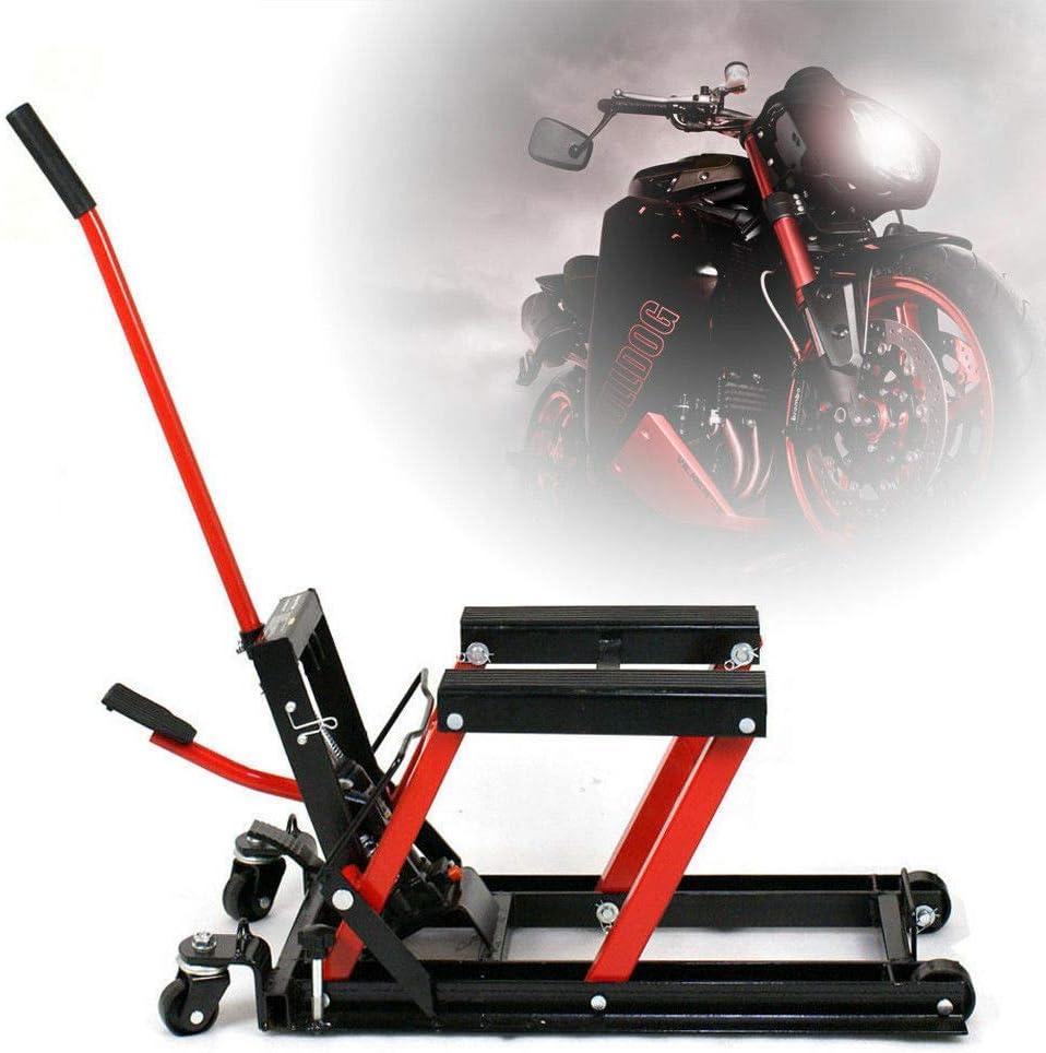 Berkalash Pelle de levage pour moto 680 kg Hydr noir et rouge /él/évateur