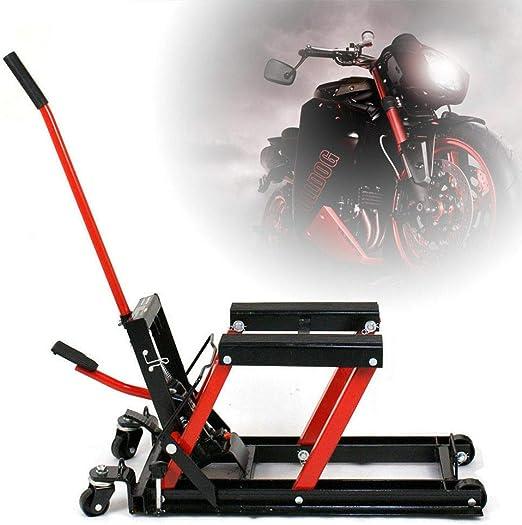 Berkalash Motorrad Hebebühne Motorradheber 680 Kg Hydr Motorradhebebühne Schwarz Rot Hebebühne Montagebock Auto