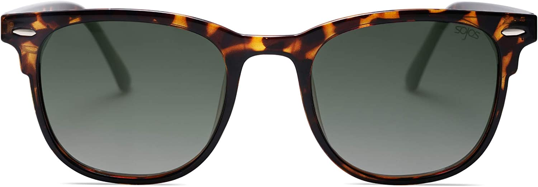 SOJOS Retro Square UV400 Polarized Sunglasses Flexible TR90 Frame FANTASY SJ2112
