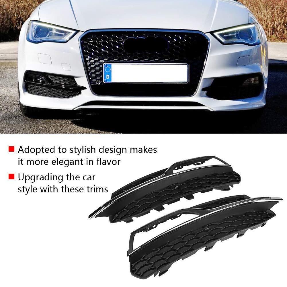 Grilles antibrouillard pour style S3 Pare-chocs avant Grilles antibrouillard Gloss Black pour Audi A3 S-Line 8V 2013-2016 Pare-chocs avant