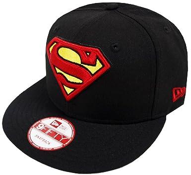 569e025ac3d Amazon.com  New Era Superman Black DC Comics Snapback Cap Kappe ...