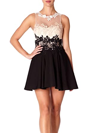 Forever Unique - LAINEY - Black and Nude Prom Dress 6