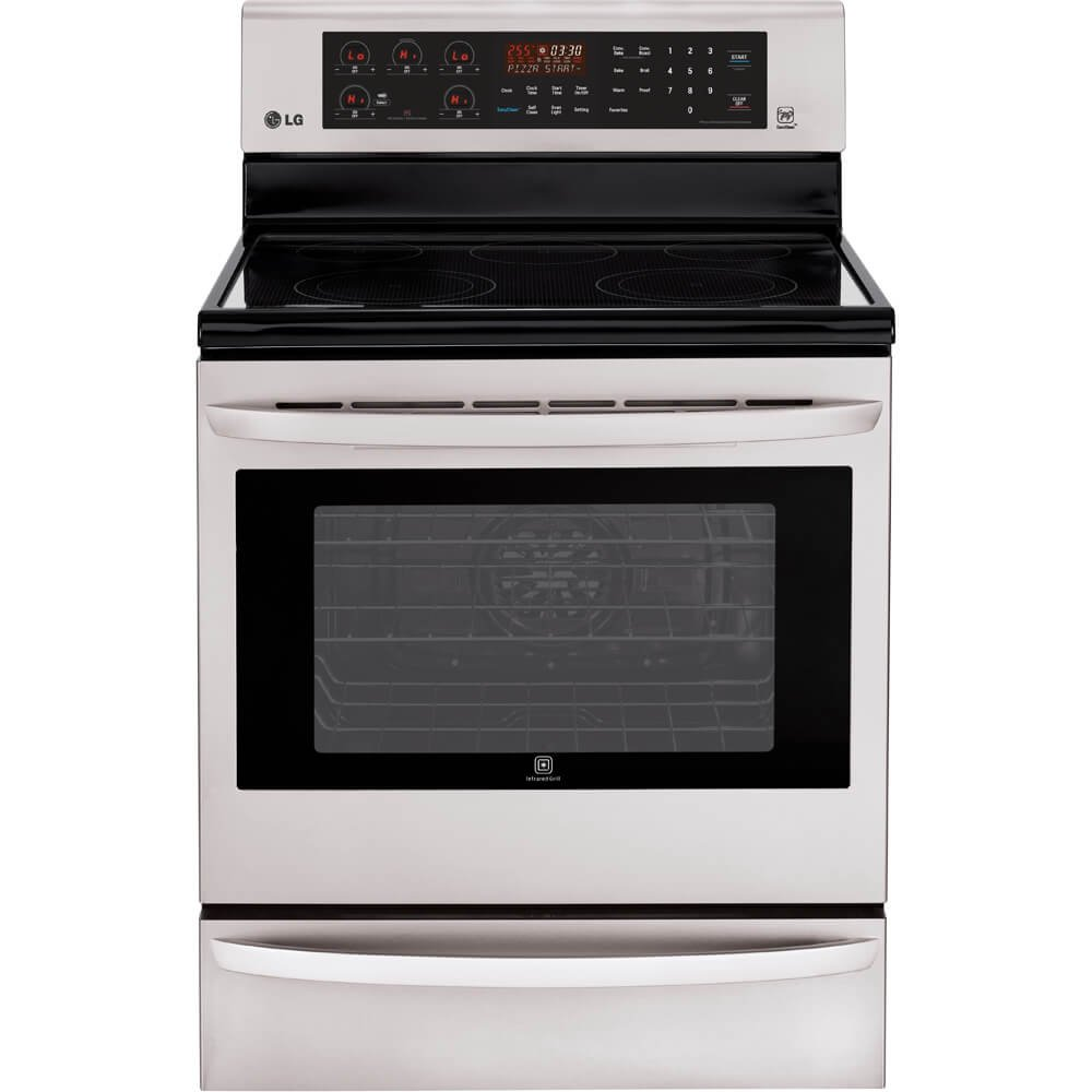 LG LRE3085ST 30'' Stainless Steel Electric Smoothtop Range - Convection