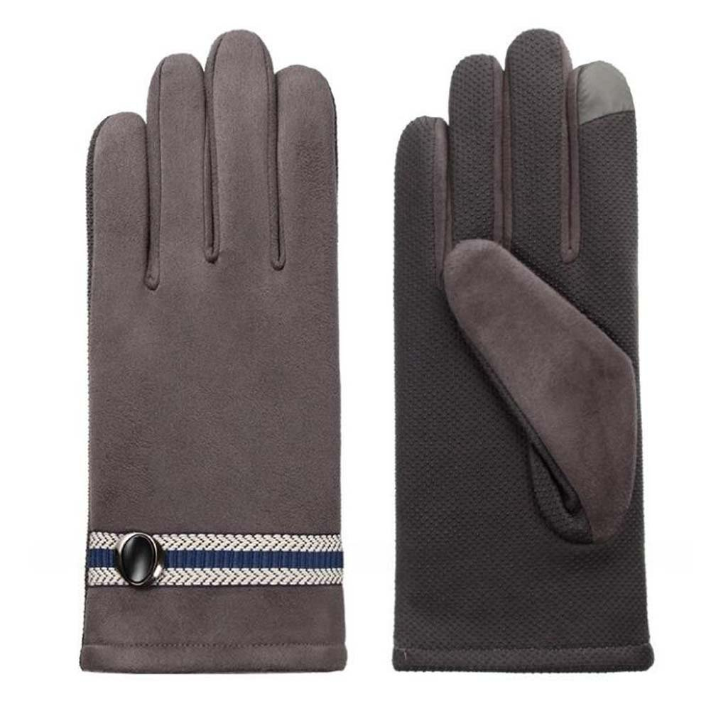 DRAGON SONIC Men's Winter Warm Touchscreen Gloves Business Gloves Gray