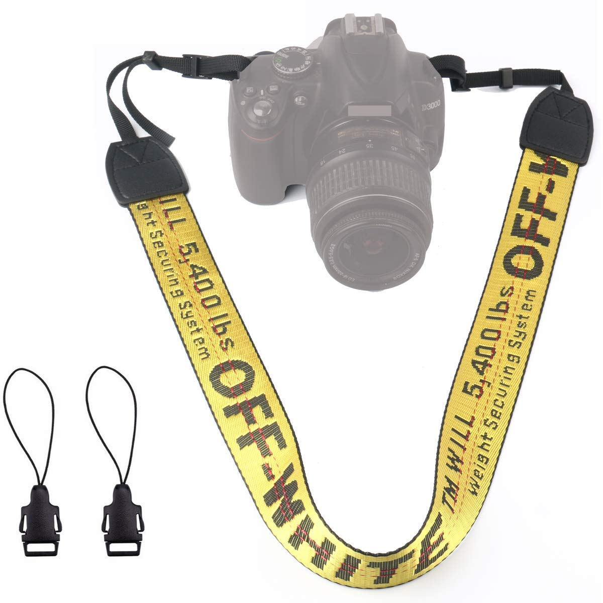 Alins Camera Shoulder Strap Fashion Universal Neck Belt for All DSLR Camera Nikon Canon Sony Pentax ect (Gold)