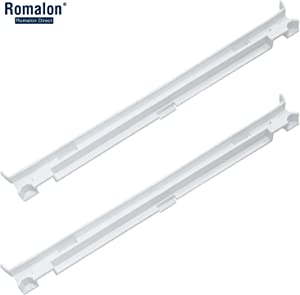 Romalon 2-Pack2223320 Track Refrigerator Crisper Drawer Slide Rail Compatible With Whirlpool Refrigerator Pan Slide Replace Number 1016208, AH869557, EA869557, PS869557 - a set of Rails