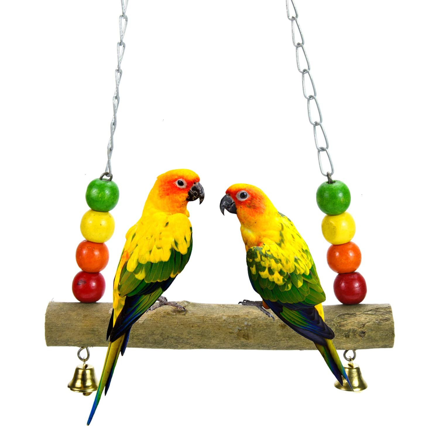 Pomeat Wooden Bird Swing Chicken Swing for Small and Medium-Sized Birds by Pomeat