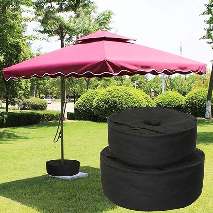 Terrazze e Balconi Qjuegad Dimensioni 38x14 cm Base per Ombrellone da Giardino,Forma Rotonda Riempibile con Acqua Sabbia Ombrello e Supporto per Ombrellone da Giardino