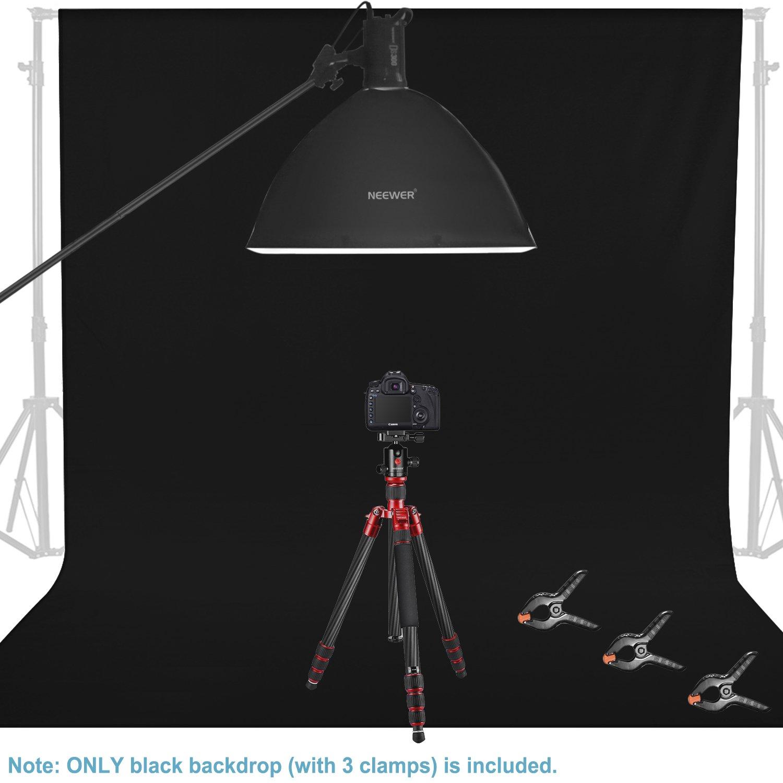 Noir Neewer 2,8 x 4,6 m/ètres Toile de Fond Photographique avec 3 Pinces pour Photographie Studio et Tournage Vid/éo