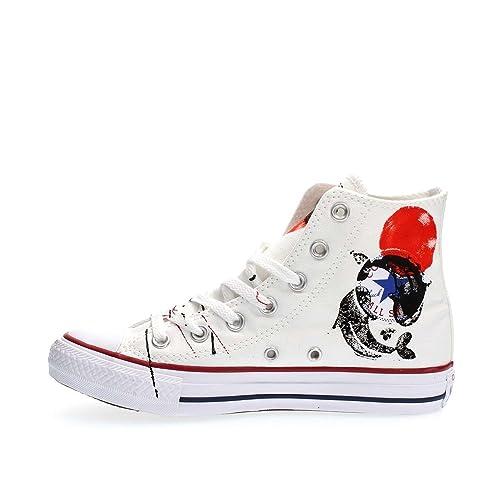 0880deaf2 CONVERSE zapatillas de deporte unisex de alta 156920C ALL STAR HI LONA LTD  JAPÓN BLANCO talla 41 Bianco Japan  Amazon.es  Zapatos y complementos