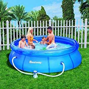 bestway 10 foot by 30 inch fast set round pool set garden outdoor. Black Bedroom Furniture Sets. Home Design Ideas