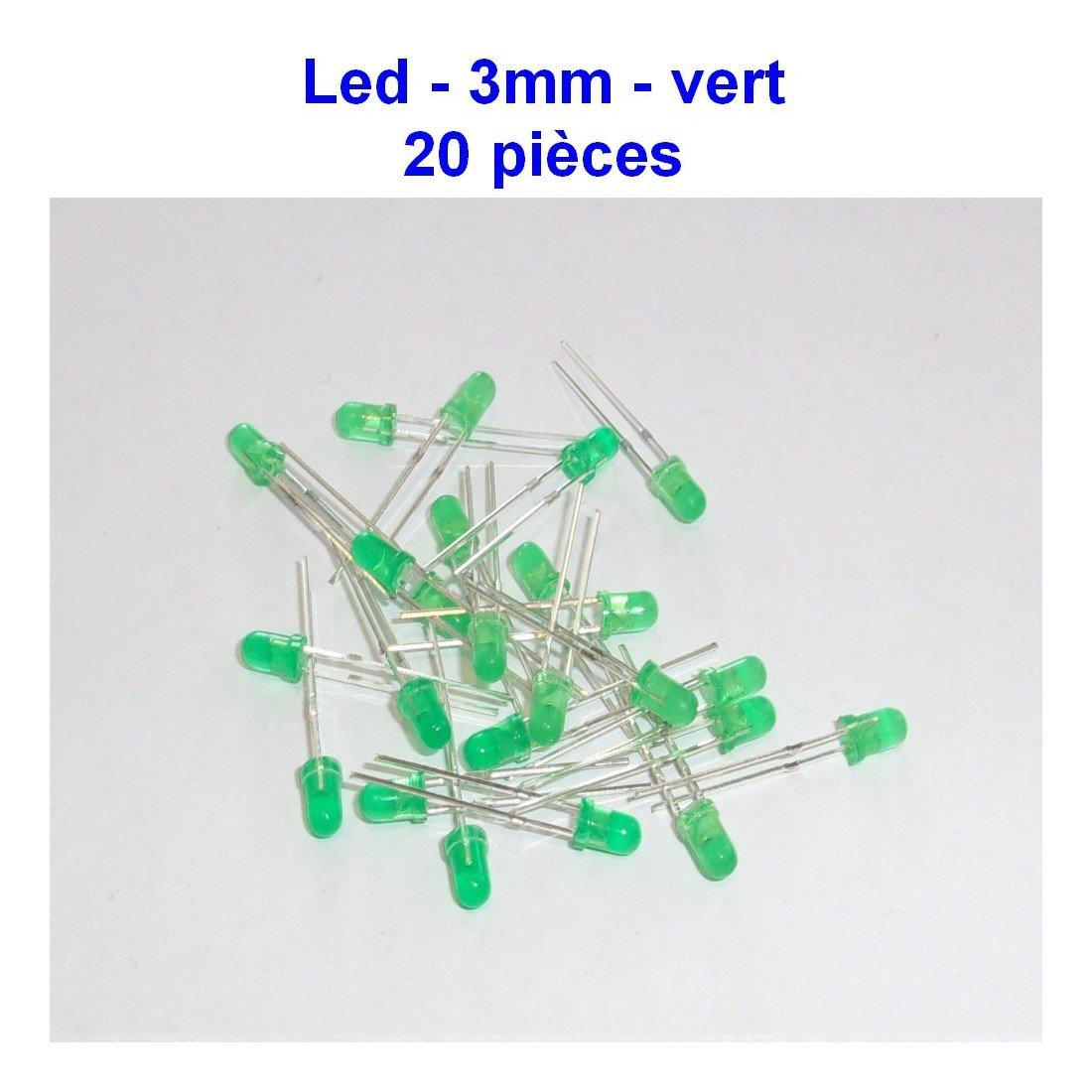 3.2v 35led009 20mA 20x LED vert 3mm green led diode