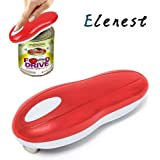 Elenest Electric Can Opener, Smooth Edge Automatic Can Opener for Any Size, Best Kitchen Gadgets for Arthritis and Seniors (Red)