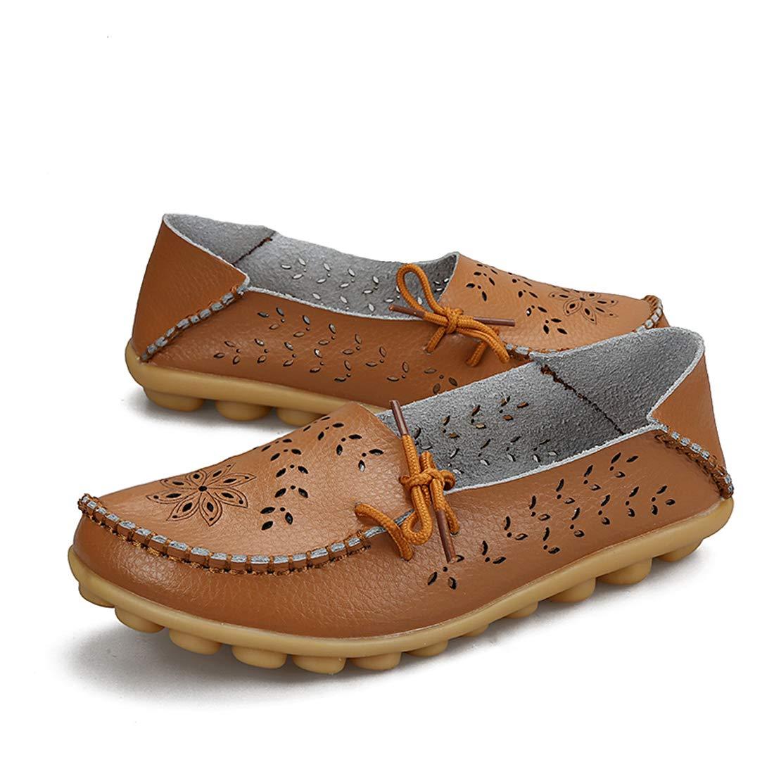 SERAPH 911-2 Mujeres Casual Hueco-Out Mocasines Zapatos Planos Cinturón Mocasines Zapatos De Barco: Amazon.es: Ropa y accesorios