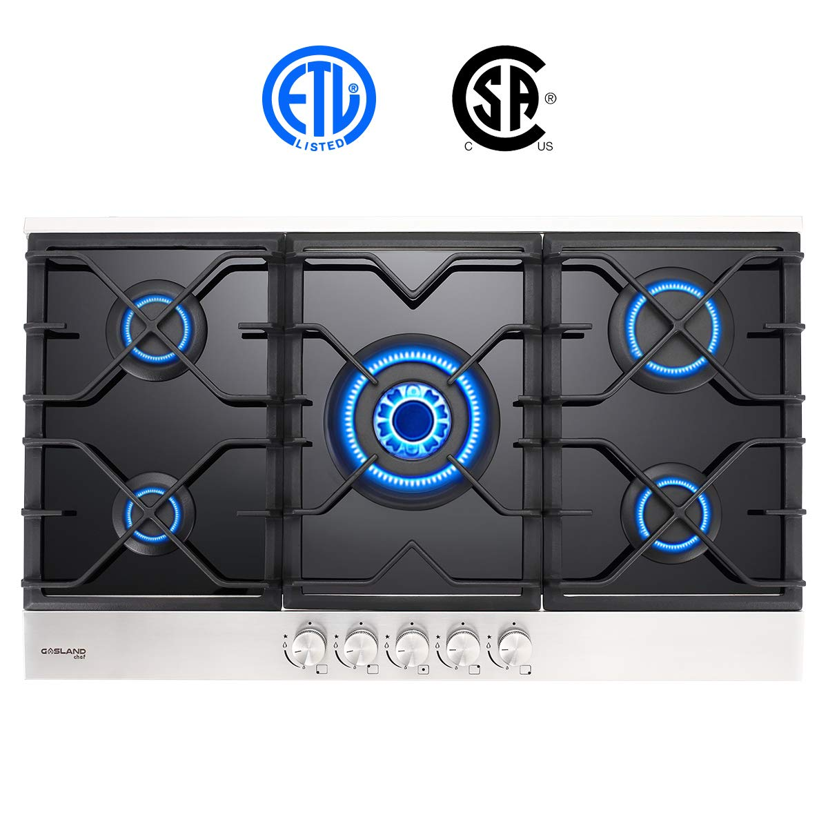Gas Cooktop, Gasland chef GH90BF 36