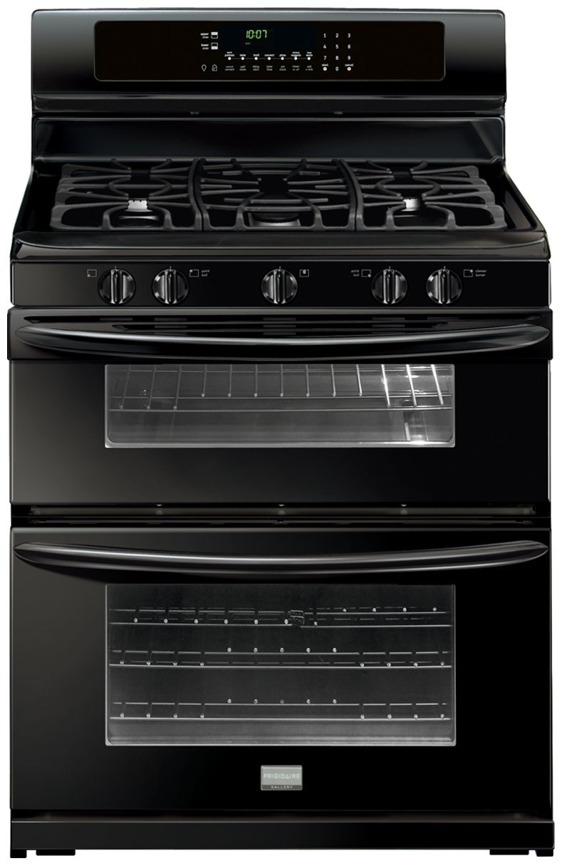 "Amazon.com: Frigidaire FGGF304DLB Gallery 30"" Black Gas Sealed 5 Burner  Double Oven Range - Convection: Appliances"