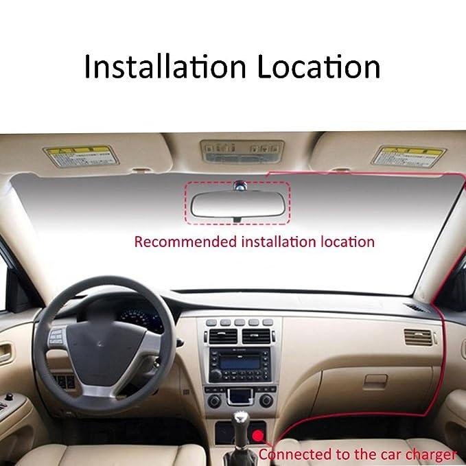 Starter Dual Dash Cam para coches Front and Inside Dash Cam con 1920X1080P 170 ° de ángulo ancho, visión nocturna, Sony Sensor, monitor de estacionamiento, ...