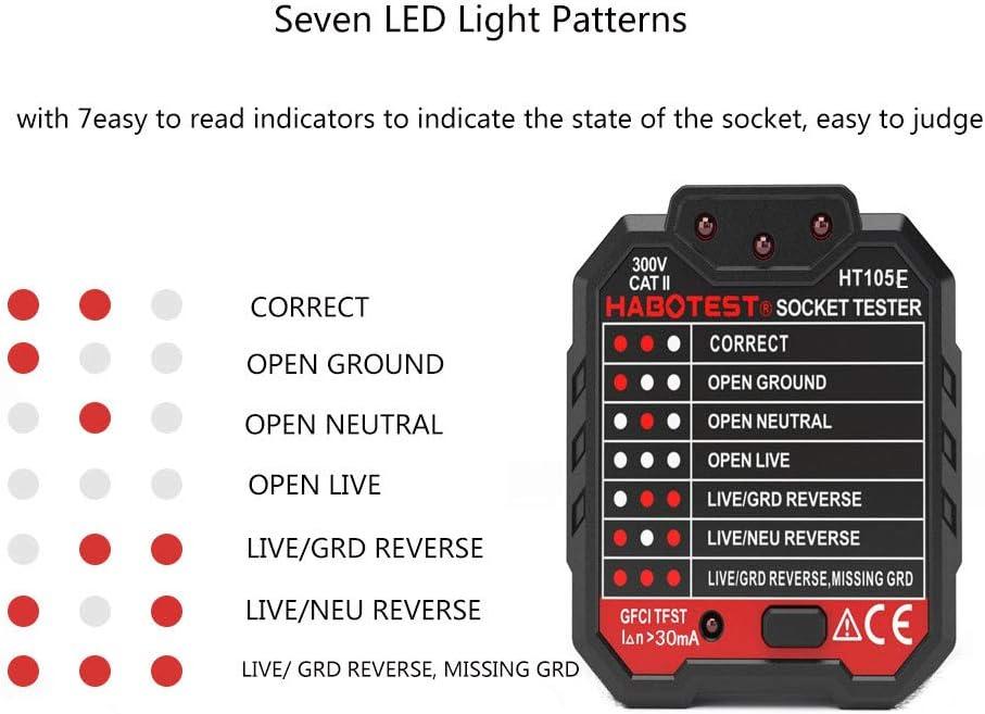 DIY & Tools Electrical 1 LCD Socket Tester amropi Electric Socket ...